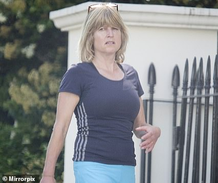 Rachel Johnson was seen returning to her home in Notting Hill on Saturday, having stayed the night after a presenting shift on LBC on Friday
