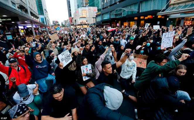 An estimated 4,000 protesters gathered for the Black Lives Matter march, while other events happened in Dunedin, Christchurch and Wellington