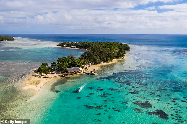 The cruise ship was travelling from Sydney to Vanuatu, return, at the time. Above, an island near Port Vila