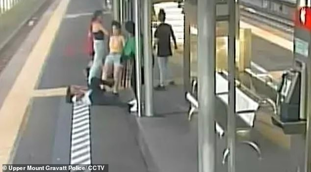 Police released CCTV images of the alleged attack (pictured) and called for witnesses to come forward with any information