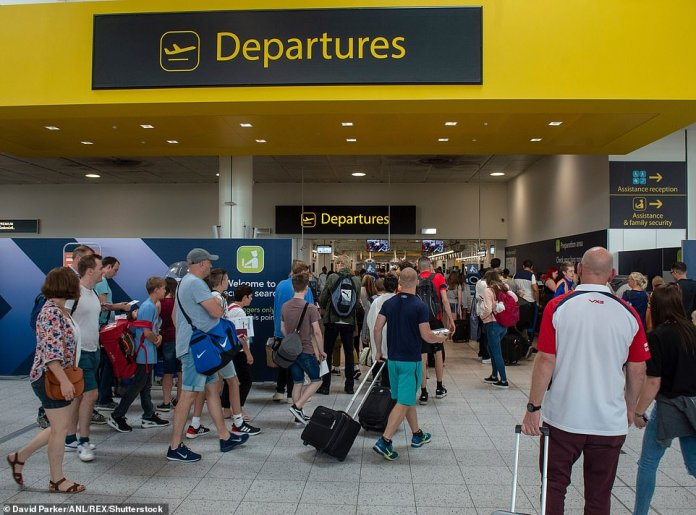 Only 23 people used Gatwick Airport in a full day last week - down from its pre-lust average of 45,000