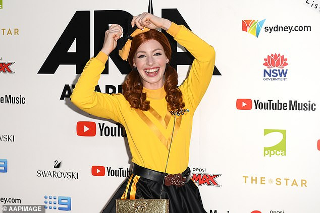 Support: The Wiggles' Emma Watkins, 30, has thrown her support behind the Black Lives Matter movement in the wake of nationwide riots in the United States, following the death of George Floyd