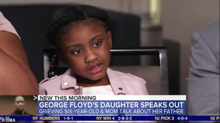 WATCH: George Floyd's six-year-old daughter Gianna says she misses playing with him as her mother reveals she does not yet know he was killed by cops but that he died 'because he couldn't breathe'