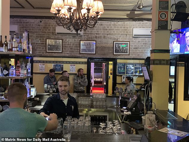 With coronavirus restrictions last month eased, demand for hospitality and tourism staff soared in May by 239 per cent across Australia, Seek job ads data showed.  New South Wales (Sydney's Pyrmont Hotel, pictured on June 1, 2020) had an even bigger 276 per cent increase in a state where the borders have remained open to the rest of Australia
