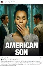 """Insta :  Kerry Washington est """" si heureuse """" que les gens regardent son film Netflix American Son au milieu des manifestations"""