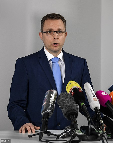 The first prosecutor Hans Christian Wolters addresses the media during a press conference on the Madeleine McCann case at the Braunschweig public prosecutor's office