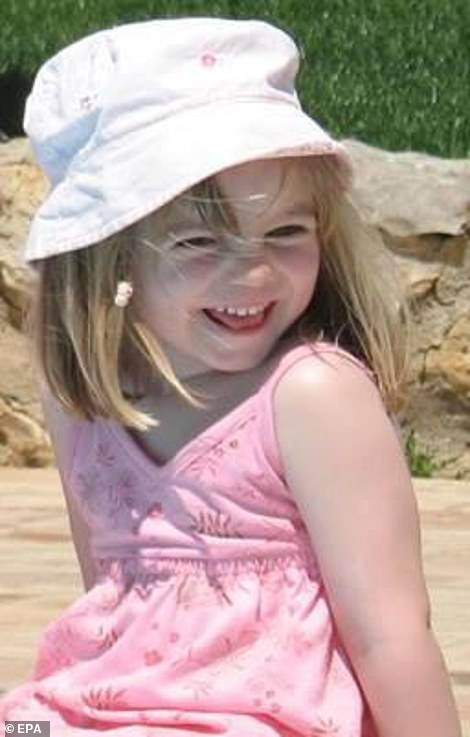 Madeleine McCann (photo) disappeared during a family stay in Praia da Luz in May 2007