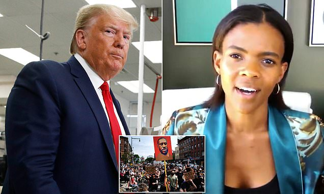 Trump retweets interview of Candace Owens lashing out at George Floyd