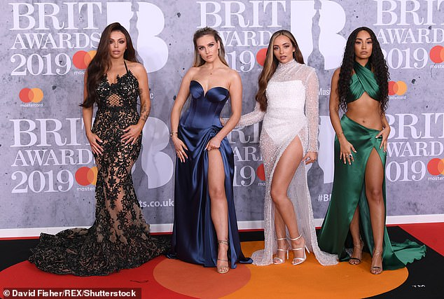 `` Invisible '': Leigh-Anne, on the far right, whose teammates are Jesy Nelson, Perrie Edwards and Jade Thirlwall (L-R), admitted in tears that she felt `` invisible '' sometimes in the group