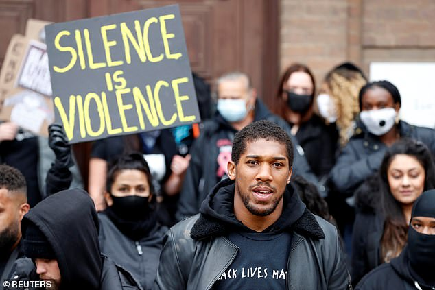 World champion Joshua attended a Black Lives Matter protest in Watford back in June