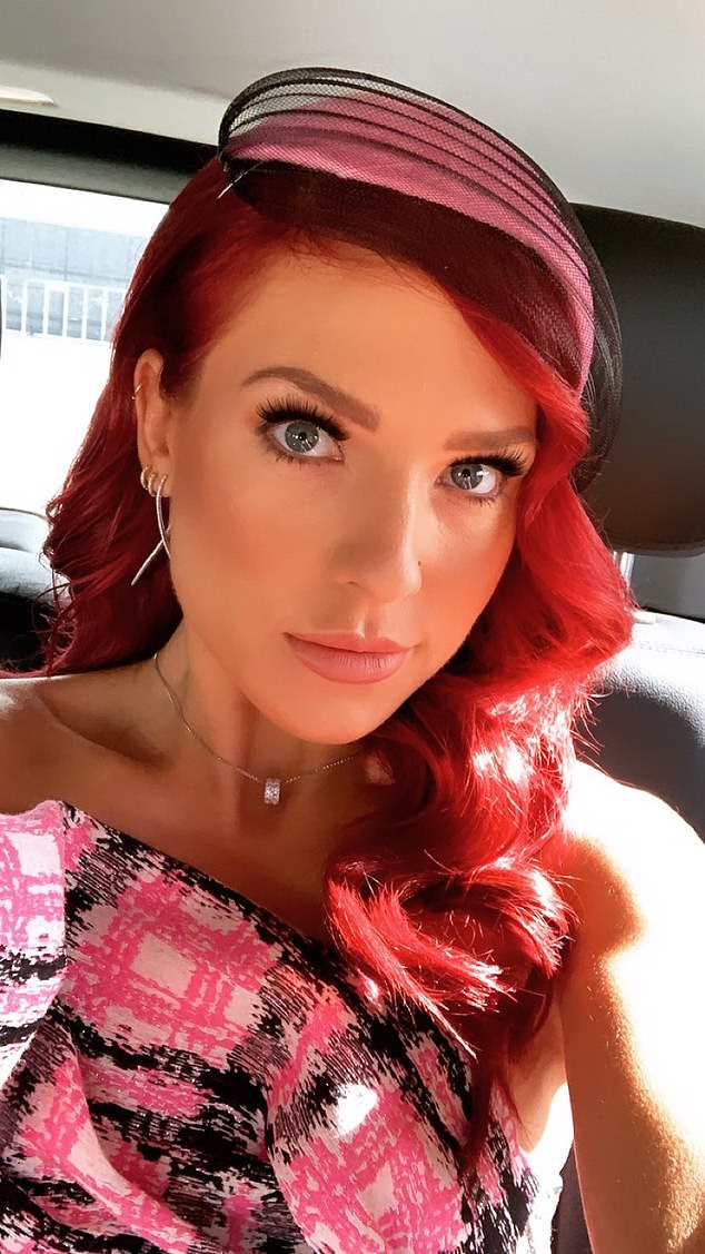 Awkward! Earlier this year, it was reported that dancer Sharna Burgess (pictured) had 'signed a contract with Channel 10' - but she's since found love herself after filming was delayed