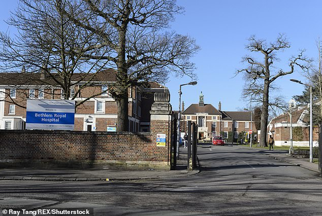 The family took him to the Royal Bethlem Hospital, pictured, for an episode of mental health