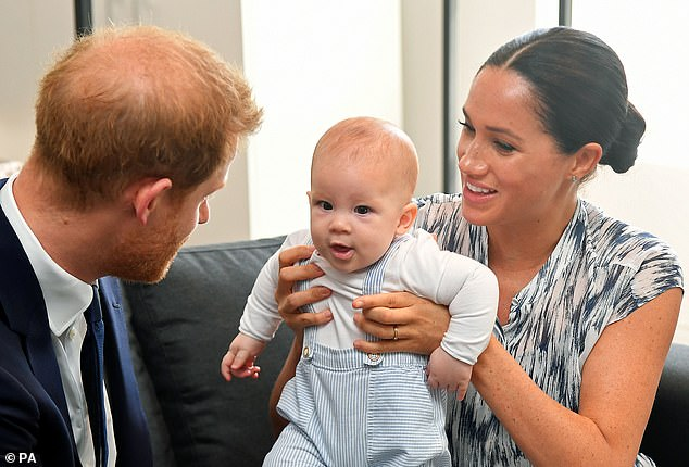 Meghan mentioned three other people who have been killed by American police in the past six years during her speech to students at her former school. She also called Los Angeles the family's `` hometown '' after moving with Harry and their son Archie, one (pictured together in South Africa in September).