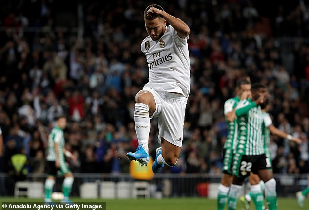 Belgian has only scored one goal and five assists in 15 games with Madrid this season