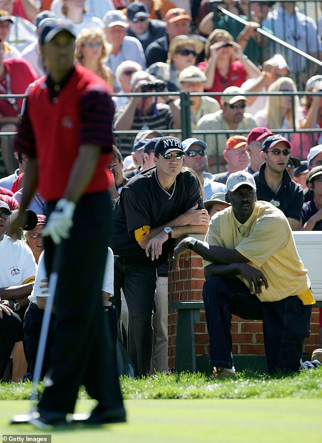 Jordan watches closely as Woods takes center stage in 2004 Ryder Cup battle