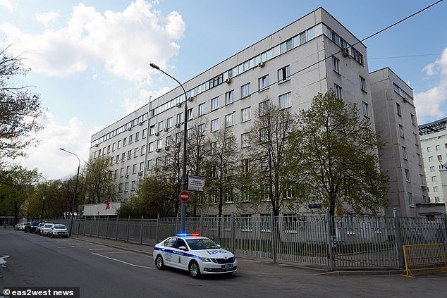 MrsShcherbakova fell from the fifth floor of this hospital, crashing through mosquito netting before suffering fatal injuries as she hit the ground