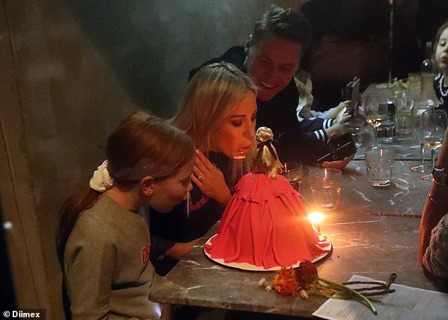 Make a wish, mummy! The PR powerhouse and her family dined at the Fei Jai restaurant
