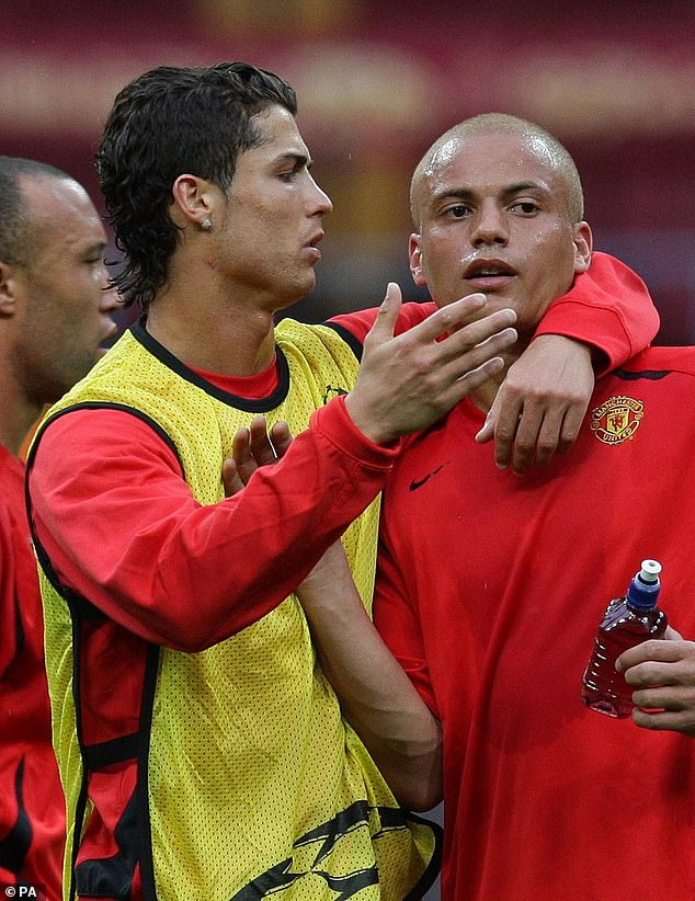Cristiano Ronaldo and Wes Brown were two of the other players involved in training - and Owen Hargreaves revealed that some of the United stars had almost had a fight in that session