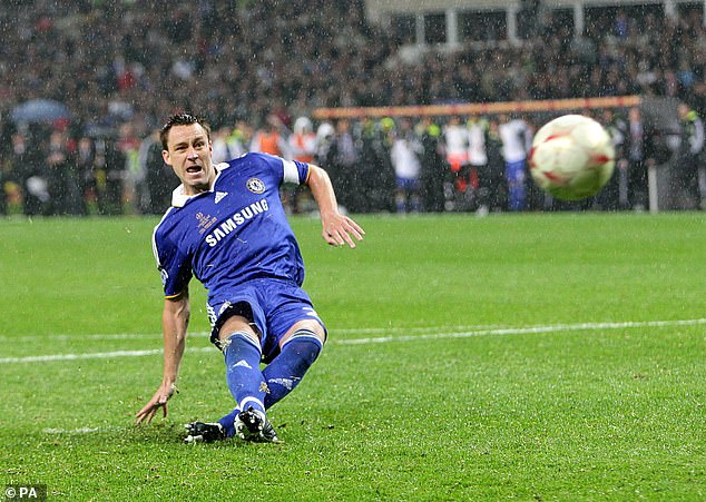 John Terry missed a penalty that would have won him for Chelsea in the possible shootout