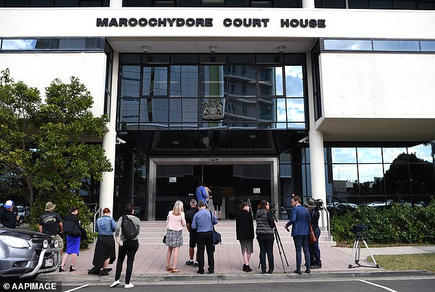 She plead guilty to two counts of perverting the course of justice, two counts of possessing property suspected of being the proceeds of a drug offence and one count of driving with a drug in her system at Maroochydore District Court (pictured)