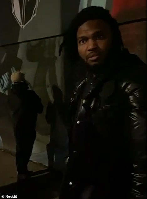 Video leaked inside CHAZ shows Simone (right) facing a tagger