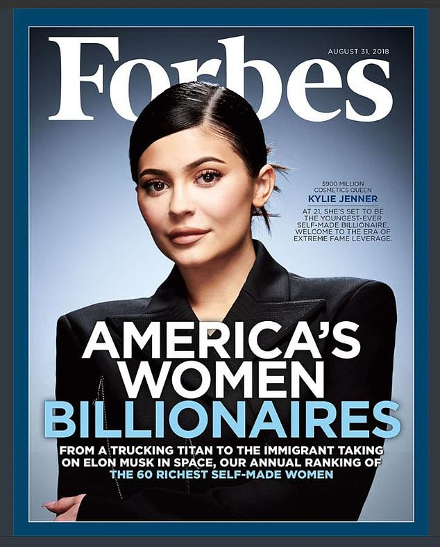 Inflated: Forbes recently backed down on his claim that Kylie Jenner was a billionaire, but placed her at the top of the list of highest paid celebrities after earning $ 590 million in one year