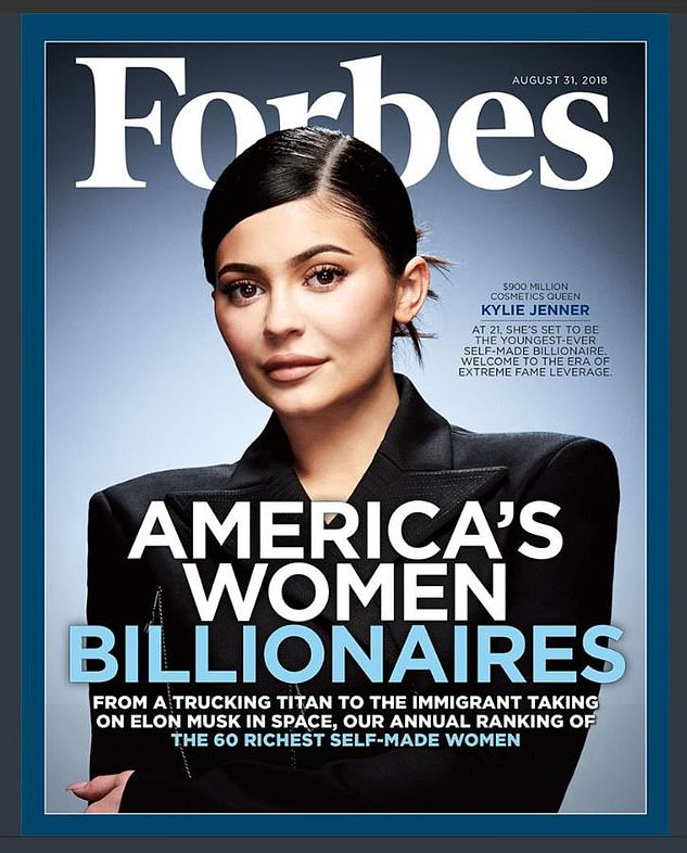 Inflated: Forbes recently walked back on its claim that Kylie Jenner was a billionaire