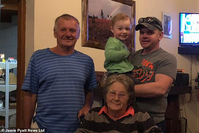 Eduard, pictured above with his family, was described as 'one of the most loving members of our community'