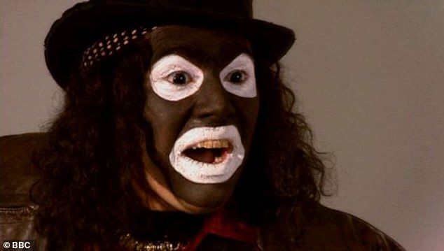 Remove! The League of Gentlemen has been removed from Netflix for its blackface character Papa Lazarou [pictured]