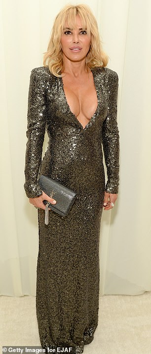 Diana Jenkins attends the 25th annual ceremony of the Oscars of the Foundation Elton John aids at the City of West Hollywood Park on February 26, 2017