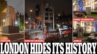 London Hides Its History: Mayor Sadiq Khan Has the Cenotaph, Winston Churchill's Statue and Other 'At Risk' Monuments Boarded Up to Protect Them From Attack Ahead of Another Weekend of Black Lives Matter Protests in City