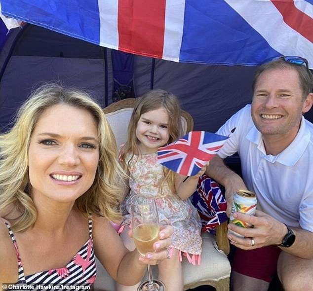 Family:Elsewhere during the interview, Charlotte reflected on spending lockdown with her husband Mark Herbert and their daughter Ella, six