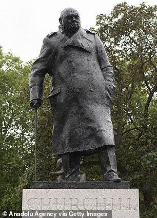 The statue of the wartime PM