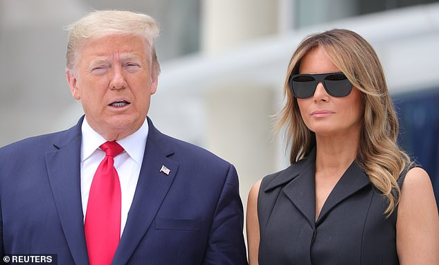 U.S. President Donald Trump and first lady Melania Trump pictured in June; the first lady failed to publicly wish her husband a happy birthday on Sunday