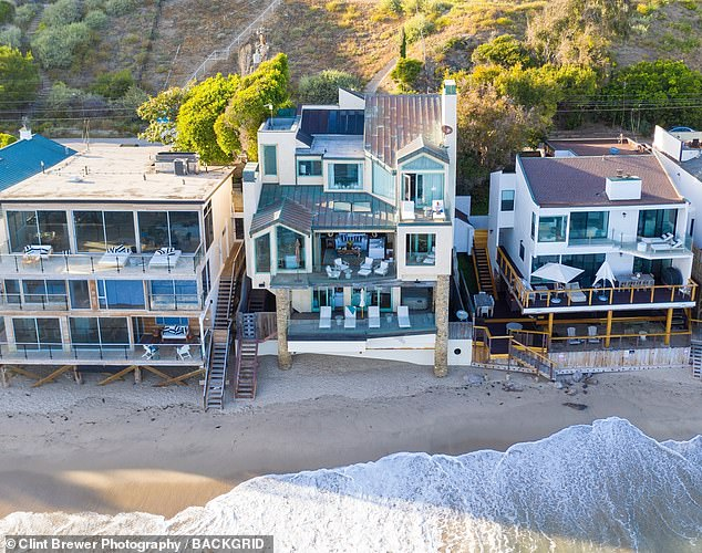 Wow: The power couple was seen looking at a Malibu mansion that was beachside