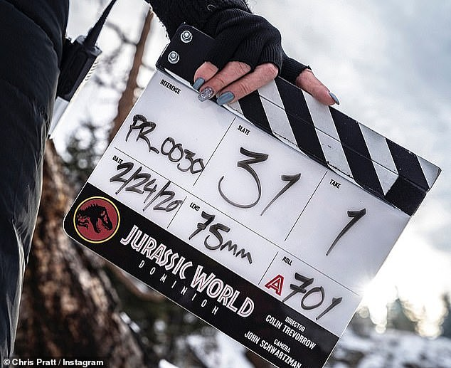 Shut down: The sixth film in the Jurassic Park franchise began shooting in Canada earlier this year, but was halted when the global health crisis forced the majority of movie and TV productions into dormancy