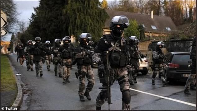 Military reinforcements were flooding into Dijon after Chechen gangs were filmed firing assault rifles in the air