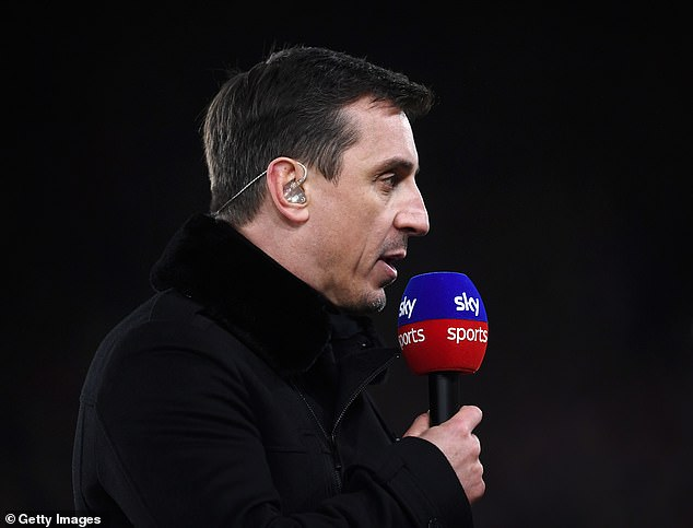 Sky Sports expert Gary Neville gives his opinion in a Premier league game this season