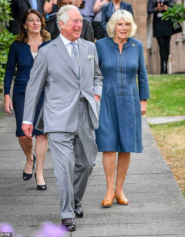 Prince Charles and the duchess of Cornwall have returned to work yesterday at their first public release since the beginning of the lock-out