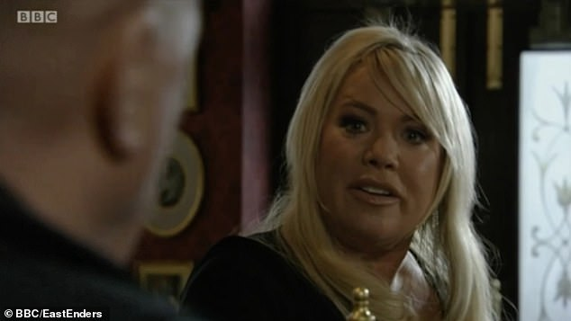 Get out of my pub! In a typically dramatic scene in Albert Square, Phil's despised wife coldly said,