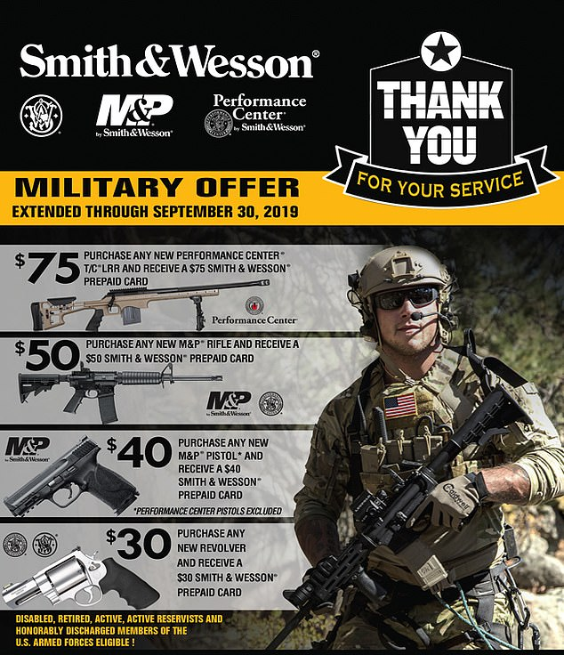 He used a Smith & Wesson Model M&P 15 Sport II semiautomatic rifle. Gun control group Brady United claims the company falsely associated the weapon with military and law enforcement