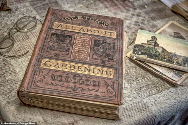 The last owner of the farmhouse, known only by the name Dessie, kept large books on subjects including gardening