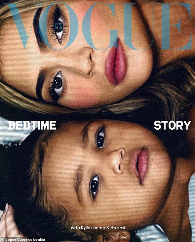 Cover girls: The shooting marked the first time that Kylie's daughter, Stormi, appeared on the cover of Vogue magazine