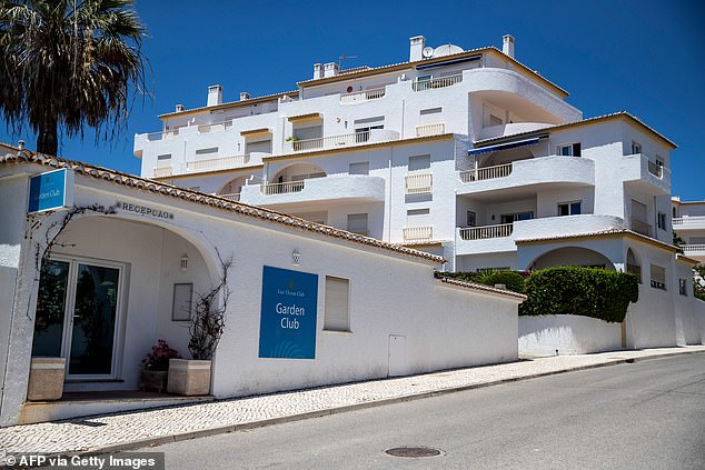 German police said they cannot re-examine a saliva sample, found at the start of the investigation in the Algarve holiday apartment the McCann family had been staying in (pictured)