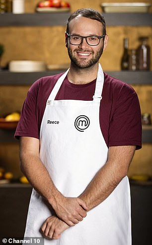 Reece, is that you?! MasterChef fans were sent into a frenzy last month over Reece Hignell's incredible transformation after losing a whopping 35kg (pictured on the show in 2018)