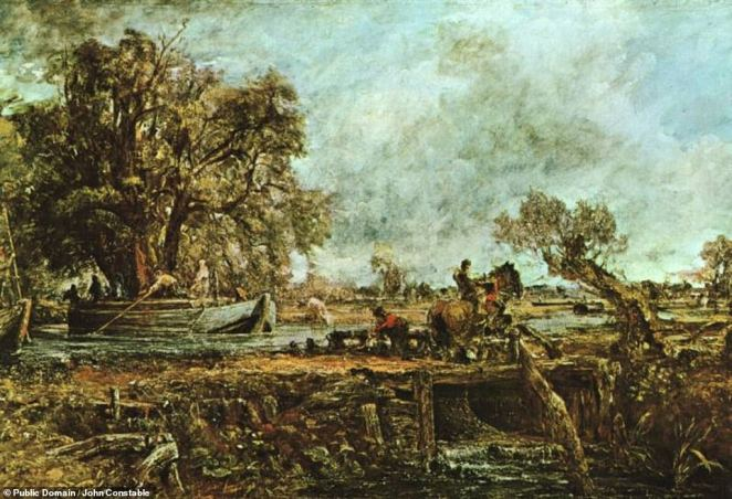 The online exhibition features over 230 curated photographs and videos, including 24 pieces of art that have been digitised in super-high definition with Google's so-called 'Art Camera' system that can pick out even the finest of details. Among the works highlighted are John Constable's 1825 romantic oil painting 'The Leaping Horse' (pictured)