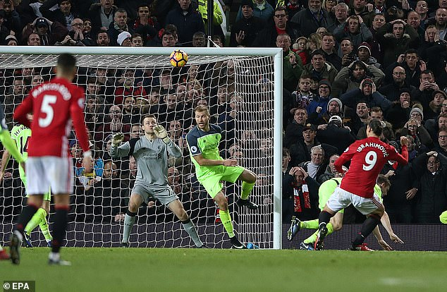About two million viewers watched Zlatan Ibrahimovic equalize against Liverpool in 2017
