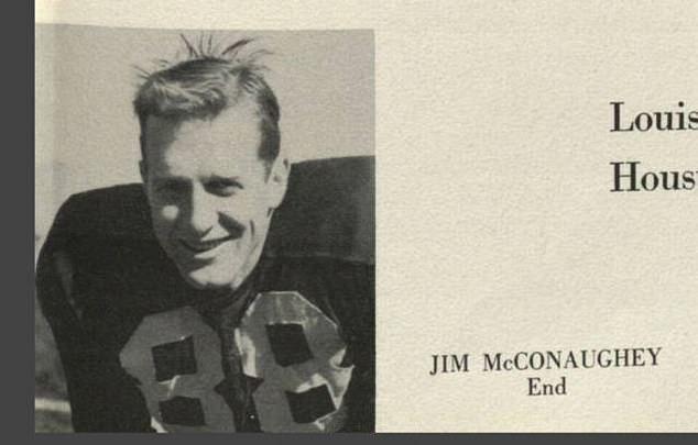Son père avait aussi une belle apparence!  Le père de l'acteur est vu ici dans son annuaire;  il est décédé en 1992 avant que Matthew devienne célèbre