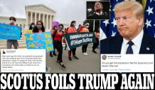 Chief Justice John Roberts Joins Liberals in 5-4 Ruling That Trump Cannot End Obama's DACA Program and Deport 700,000 Illegal Immigrants who Came to the U.S. as Children – in Second Defeat in a Week for President