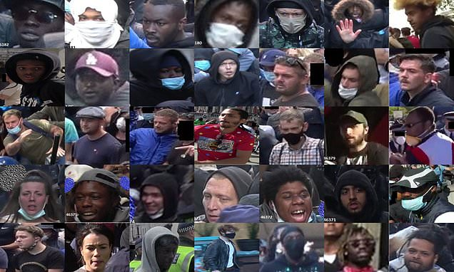 Police release 35 images in relation to violence at London protests